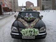 Украшения на свадебные авто.