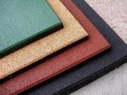 Резиновая плитка различных цветов