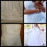 Продам свадебное платье А-силуэта, очень нежное