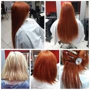 Наращивание волос,  коррекция.