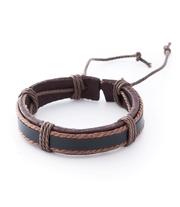 Кожаный коричневый браслет Androginy